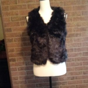 Justice faux fur girls vest sz 12/14